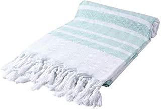 Cacala Turkish Hammam Towels - Traditional Peshtemal Design for Bathrooms, Beach, Sauna - Ultra-Soft, Fast-Drying, Absorbe...