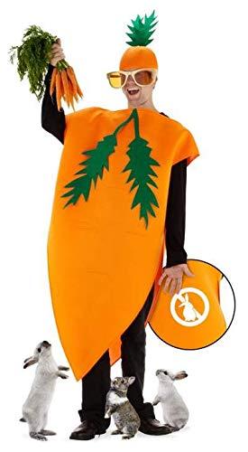 Folat 21977 Karotten Kostüm, Einheitsgröße, orange, One Size