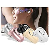 1Pc Bluetooth Earbud Single Ear Wireless Earphones Stereo in-Ear Mini Bluetooth Headset Hands-Free Headphone Sports Workout Earbuds with Microphone Cell Phone Bluetooth Earpiece (Black, 4.1)