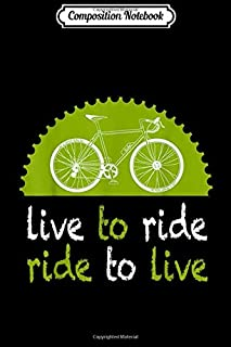 Composition Notebook: Life Is Good Ride On Bike Cycling Triathlon Gift t Journal/Notebook Blank Lined Ruled 6x9 100 Pages