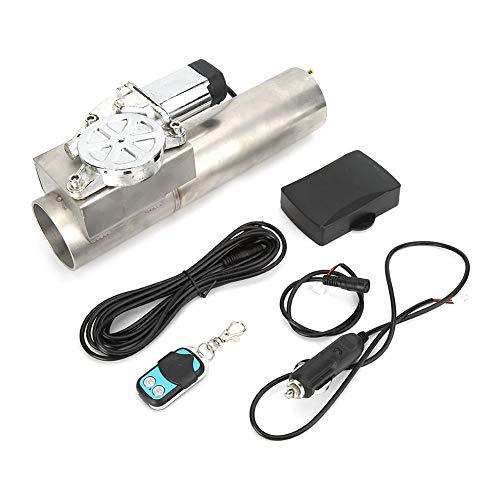 Akozon elektrische uitlaat Catback rechte downpipe-klepafsluitersysteem 2,5 inch universeel met afstandsbediening