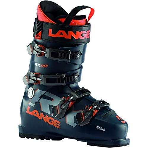 Lange RX 110 Skischuhe, Erwachsene, Unisex, Dunkelblau/Orange, 280