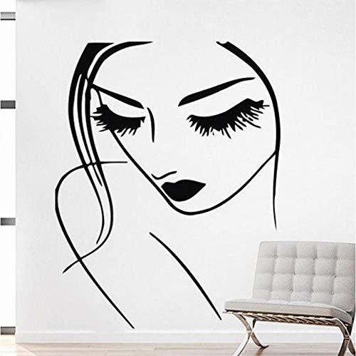 Cils Maquillage Sticker Lèvres Yeux Vinyle Autocollant Stickers Fille Femme Salon De Beauté Coiffeur Home Decor Chambre Art 34x42cm