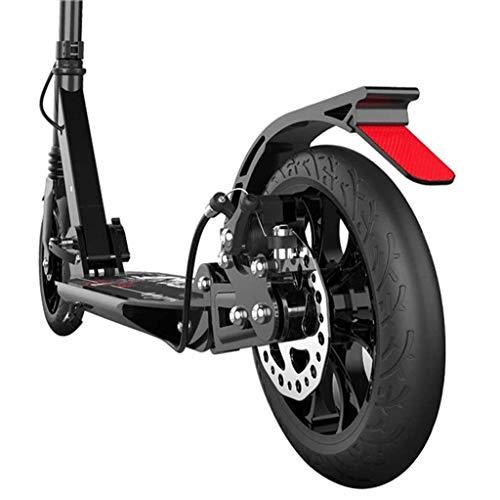 YUDE Patinete de Pedal, Patinete Plegable de Doble suspensión con Ruedas Grandes y Freno de Disco, Soporte de 350 Libras, no eléctrico, aleación de Aluminio