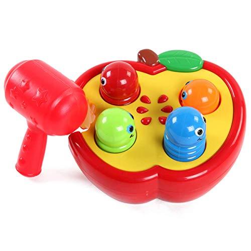 TOPJIN Bebé Niños Juguetes de Plástico Jugar Golpear Hit Hamster Insecto Juego Jugar Fruta Gusano Juguete Educativo Niños Regalo de Cumpleaños Regalo de Navidad