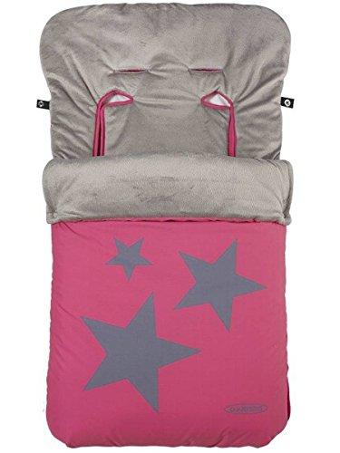 Gamberritos - Saco Universal Silla Interior Coralina Estrellas 10031 - Color Fucsia