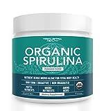 Organic Spirulina Powder: 4 Organic Certifications - Certified Organic by USDA, Ecocert, Naturland & OCIA - Vegan Farming Process, Non-Irraditated, Max Nutrient Density (8 oz.)