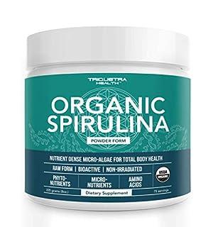 Organic Spirulina Powder: 4 Organic Certifications - Certified Organic by USDA, Ecocert, Naturland & OCIA - Vegan Farming Process, Non-Irraditated, Max Nutrient Density (8 oz.) (B00XV4SNJ2) | Amazon price tracker / tracking, Amazon price history charts, Amazon price watches, Amazon price drop alerts