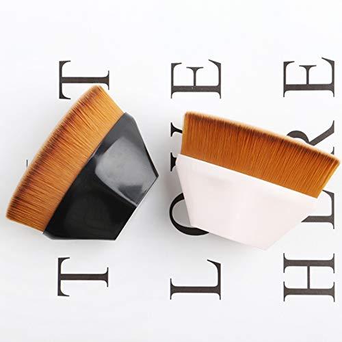 Fondation maquillage brosse plat Top Kabuki hex visage blush liquide Fondation pour mélange liquide, crème ou innocent poudre cosmétiques 2pcs