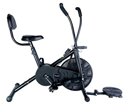 SPORTAL Air Bike Exercise Home Gym Cycle with Twister & Back Support for Cardio and Weight Loss