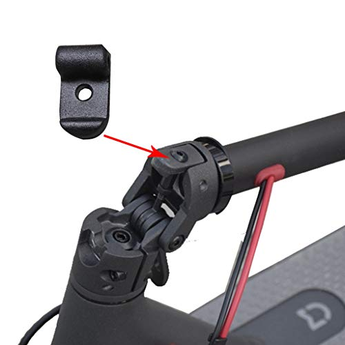Für Xiaomi Mijia M365 Elektro Scooter Faltende Schnalle, Elektroroller Zubehör Elektroscooter Ersatzteil Front Folding Hook Clasp Pothook Buckle für Xiaomi Mijia M365, Wasserbeständigkeit (Schwarz)