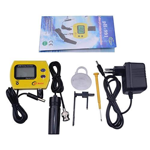 Silverdee PH-Meter mit Hintergrundbeleuchtung Wasserqualität Tester Durable Acidimeter Werkzeug Temp Monitor für Aquarium Schwimmbecken Tag Wasser