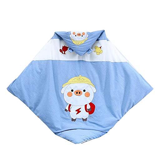 YUMEIGE Couvertures d'emmaillotage Couvertures et couvertures Automne/Hiver/Épaississement, Gigoteuse Le Coton, for 10-28 Degrés, 38,5 × 38.5inch Fournitures Nouveau-nés (Color : Blue Hedgehog)