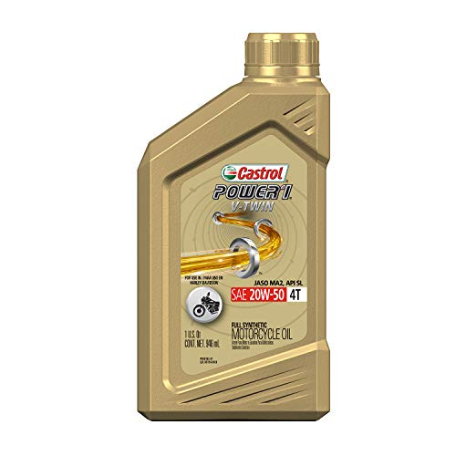 Castrol 06116 POWER1 V-TWIN 4T 20W-50 Synthetic...
