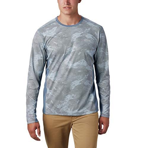 Columbia Solar Chill 2.0 T-Shirt à Manches Longues pour Homme Solar ChillTM 2.0, Homme, 1864931, Imprimé Mountain Mesh, XXL
