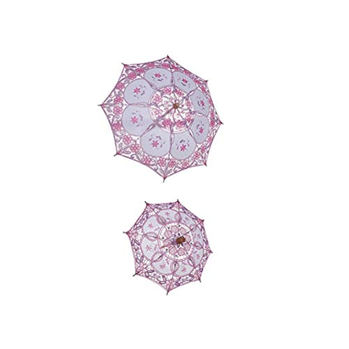 SHENAISHIREN Lace Regenschirme, Folding Travel Sonnenschirm, Sonnenschirm Dame Sunblock Schutz Compact, UV-Schutz (Color : C-Big)