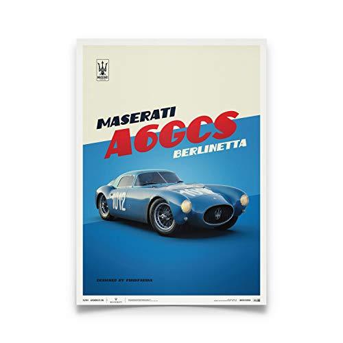 Automobilist | Maserati A6Gcs Berlinetta 1954 - Blu | Standard Formato Poster