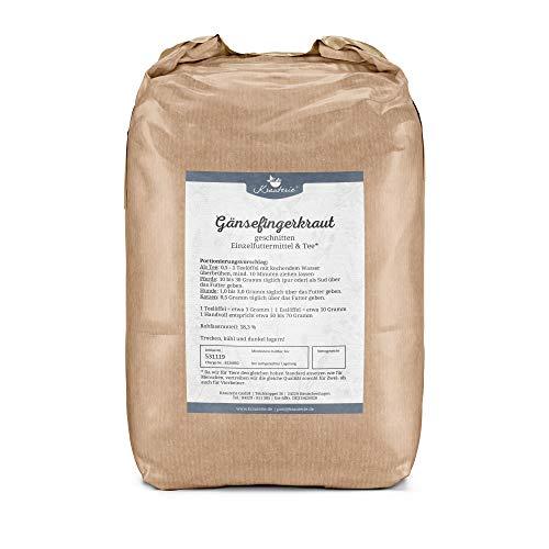 Krauterie Gänsefingerkraut Silberkraut in hochwertiger Qualität, frei von jeglichen Zusätzen, als Tee oder für Pferde, Hunde und Katzen (Potentilla anserina) – 2000 g