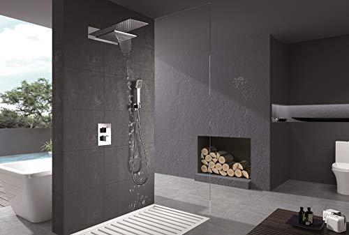 Conjunto de ducha termostática empotrada Imex Rodas GTR049