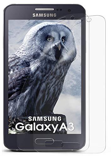 MoEx® Matte Anti Reflex Bildschirmschutzfolie passend für Samsung Galaxy A3 (2015) | Gegen Reflexionen und Fett-Finger - Entspiegelt