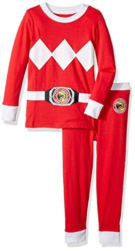 Intimo Boys' Toddler Mighty Morphin Red Ranger Pajama Set, 2T