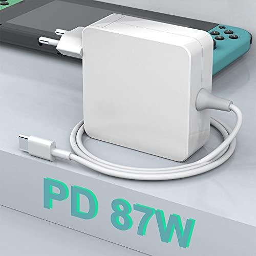 Caricabatterie Rocketek 87W USB C, Compatibile Con Tutti Gli Smartphone e Laptop Con Porta USB C o C, Adatto Per i Nuovi Modelli di Mac Book Air, Lenovo, ASUS, Huawei, HP, Ecc.