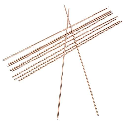 SchweißStäBe Set 10pcs Red Kupfer Schweißen Löten Draht Löt-TIG Füllstückstange A18 Mild Stahl Stahl 1,6/2,4/3,2 mm * 330 mm Durchmesser Schweiß-Zubehör (Diameter : 3.2mm)