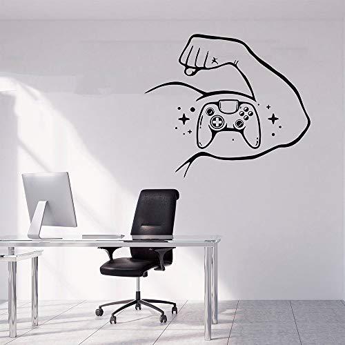 YuanMinglu Muskelspiel Vinyltapete an der Wand von Brötchen aus schleimigen Möbeln Wohnkultur modernen Abziehbildern Spielzimmer 54X63CM