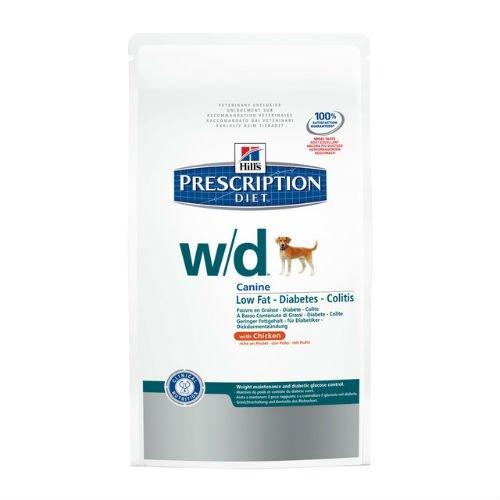 prescription diet  w/d canine low fat mangime secco per il controllo del peso gusto pollo kg.12