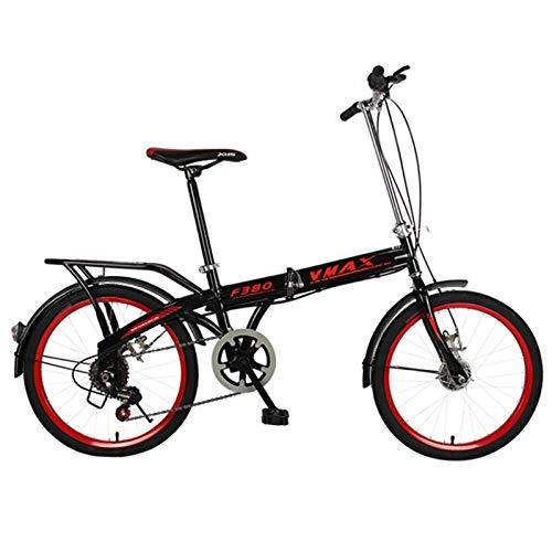 Bicicletas plegables, Bicicleta Plegable, Ruedas De 20 Pulgadas Bicicletas De Una Sola Velocidad Ligera Plegables,for Las Muchachas Del Estudiante De Los Muchachos De Los Niños Urbanos De Cercanías Da