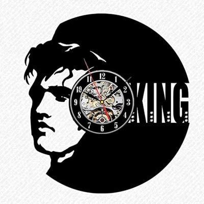 LKJHGU Reloj de Pared con Disco de Vinilo Elvis diseño Moderno Reloj de Pared de Roca Decorado en 3D Reloj de decoración de Dormitorio de Sala de Estar silencioso