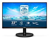 Philips Monitors 222V8LA/00-22 Full HD, 75Hz, VA, Adaptive Sync (1920x1080, 250cd/m, HDMI 1x1.4, Displayport 1x1.2), vga-hdmi-displayport
