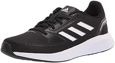 adidas Women's Runfalcon 2.0 Running Shoe, Black/White/Grey, 8