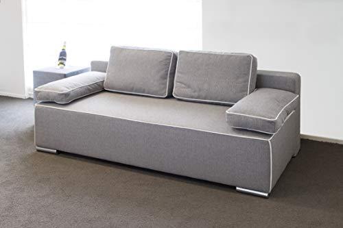 Slaapbank - Bedbank - Logeerbank - Logeerbed 150x200 cm - Grijs - Gratis bezorging