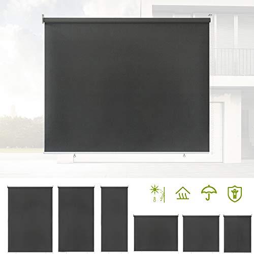 BMOT 180x240cm Senkrechtmarkise Balkonmarkise Sonnenschutz, 90% UV-Blockschutz, wasserabweisend, Stabil und wetterbeständig, Einfache Montage, für Balkon, Terrasse, Garten, Anthrazit