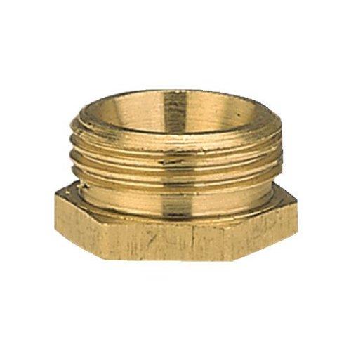 Gardena Messing-Reduzierstück: Messing-Anschlussstück zur Rohrverbindung mit einer Schnellkupplung, 33.3 mm (G 1 Zoll)-AG/26.5 mm (G 3/4 Zoll)-IG (7271-20)