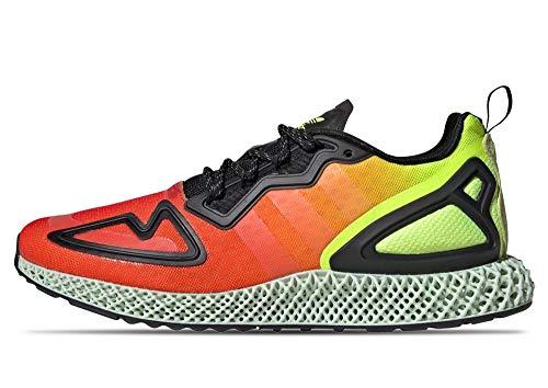 adidas Originals ZX 2K 4D - Zapatillas, color Solar Yellow / Hi-Res Red / Core Black, tamaño 41.5