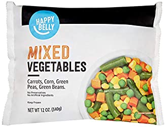 Amazon Brand - Happy Belly Mixed Vegetables, 12 Ounce (Frozen)