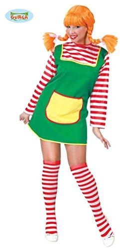 freches Mädchen mit roten Haaren - Kostüm für Damen Karneval Fasching rot Gr. M - L, Größe:L