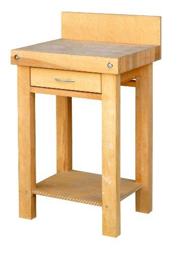 Outifrance 0015500 Billot de découpe en bois de bout - 600 x 600 x h. 900 mm, Beige
