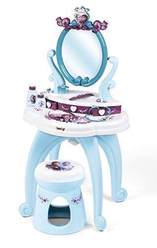 Smoby 320233 - Die Eiskönigin 2 Frisiersalon - Frisier- und Schminktisch mit viel Zubehör, Disney Eiskönigin-Design, für...