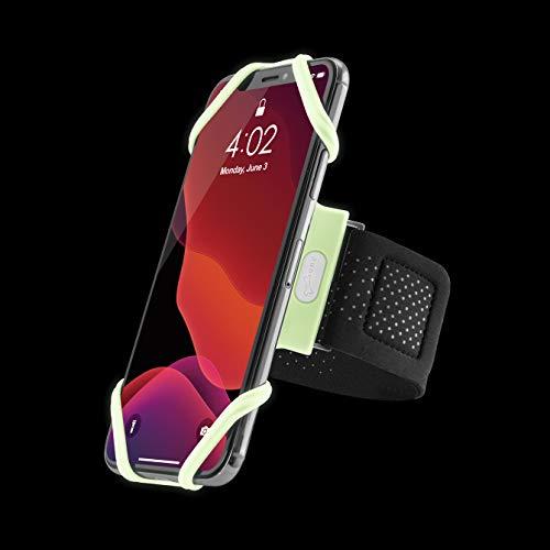 Bone Sportarmband für Handy, Federleichtes Handy Armband zum Joggen Handytasche Laufen, Handyhalter Arm für iPhone 12 Pro Max Mini 11 Pro Max XS XR X 8 Samsung Galaxy Huawei - Leuchtend (L)