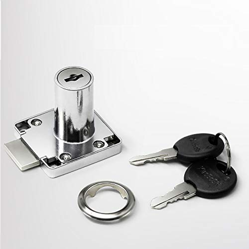 Cerradura para muebles de aleación de cinc con 2 llaves para cajones y armarios, 22 mm/32 mm