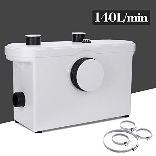 Wolketon 3/1 Hebeanlage Fäkalienpumpe 600W Kompakte Abwasserentsorgung Hänge WC Dusche Waschtisch Haushaltspumpe