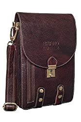 BRAND LEATHER Unisex Leather Cross Body Sling Bag (Brown),A TO Z Leather Goods,BL309