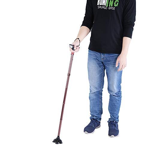 Qkiss Design wandelstok opvouwbaar met LED-licht, wandelstok, draagbaar, opvouwbaar, met alarmen
