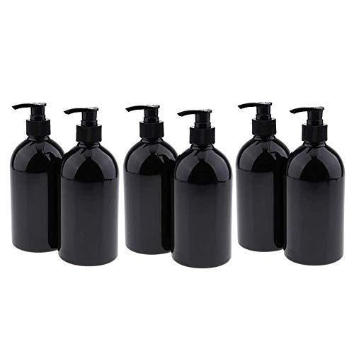 Granel Conveniente 6 líquido Recargable jabón y dispensador de la loción Botellas con la Bomba - 16 onzas de Viaje