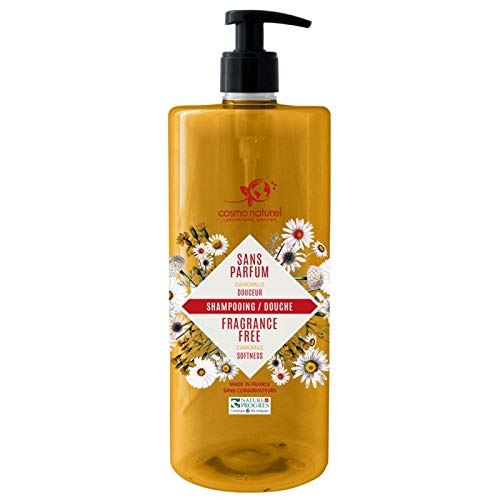 Cosmo Naturel Shampoing douche sans parfum à l'extrait de Camomille 1L