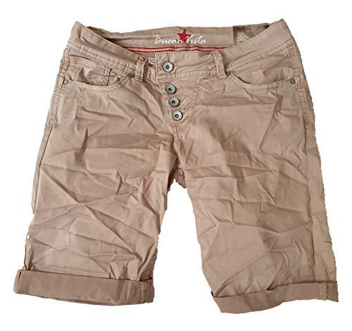 Buena Vista Damen Jeans Malibu-Short Stretch Twill Beige S