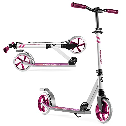 Scooter for Kids Ages 6-12 Scooters for Teens 12 Years and Up - Kick Scooters for Adults, Teens and Kids - Scooters for Kids 8 Years and Up with Quick Release Folding System (Marble)